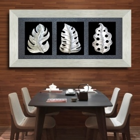 Leaf Art Shadow Boxes on Walls