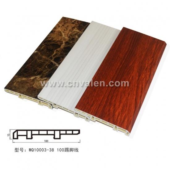100mm Pvc Skirting Board Waterproof Wood Plastic Tile