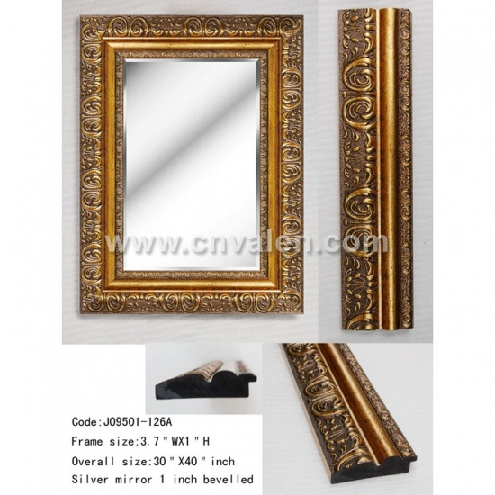 30X40 inch Custom Classical Gold Unique Fancy Wall Mirrors
