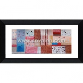 Black Frame Collage Picture Frame With Mat Display Three Paintings